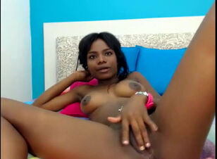 Black teen spreading pussy