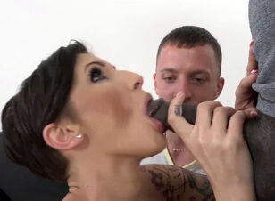 Wife eats black ass