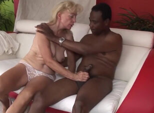 Old granny interracial